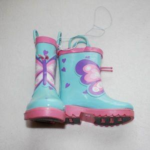 NWOT Cute Target Butterfly Rain Boots